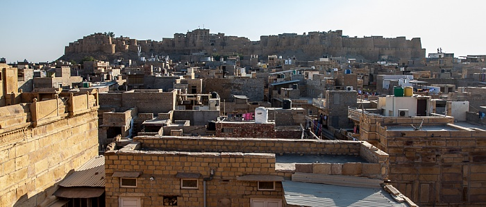 Blick vom Patwon ki Haveli: Jaisalmer Fort und Altstadt