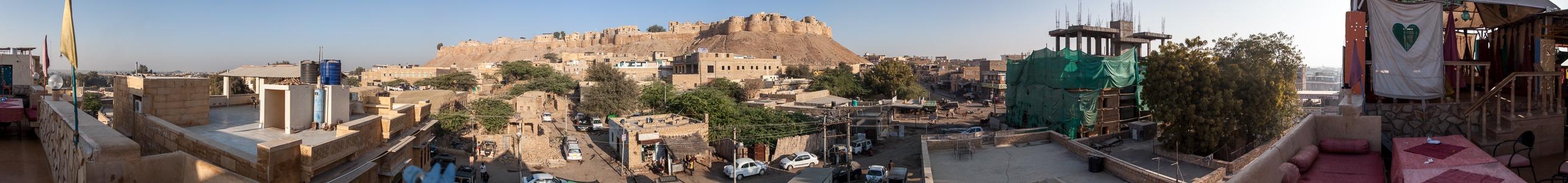 Blick von The Royale Hotel: Jaisalmer Fort und Altstadt