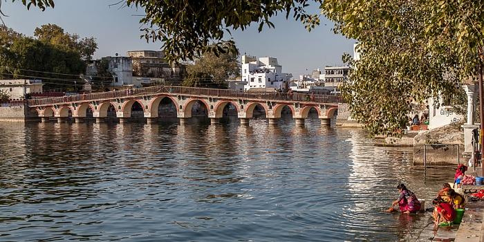 Udaipur Altstadt: Gangaur Ghat, Lake Pichola, Chand Pole Puliya