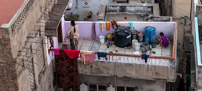 Udaipur Blick vom Hotel Hill Lake