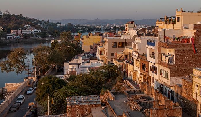Udaipur Blick vom Hotel Hill Lake Swaroop Sagar