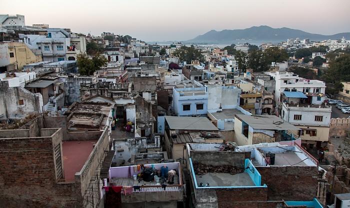 Udaipur Blick vom Hotel Hill Lake Lake Pichola