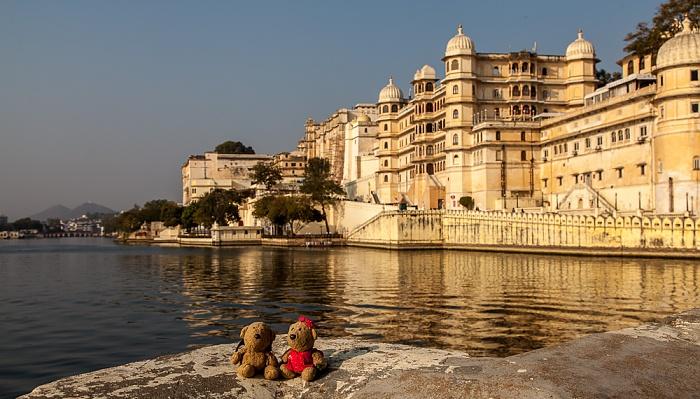Udaipur Lake Pichola, City Palace: Teddy und Teddine
