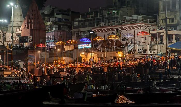 Varanasi Ganges, Ghats: Dashashwamedh Ghat - Ganga aarti