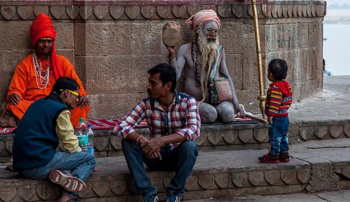 Varanasi Ghats: Darabhanga Ghat - Sadhu