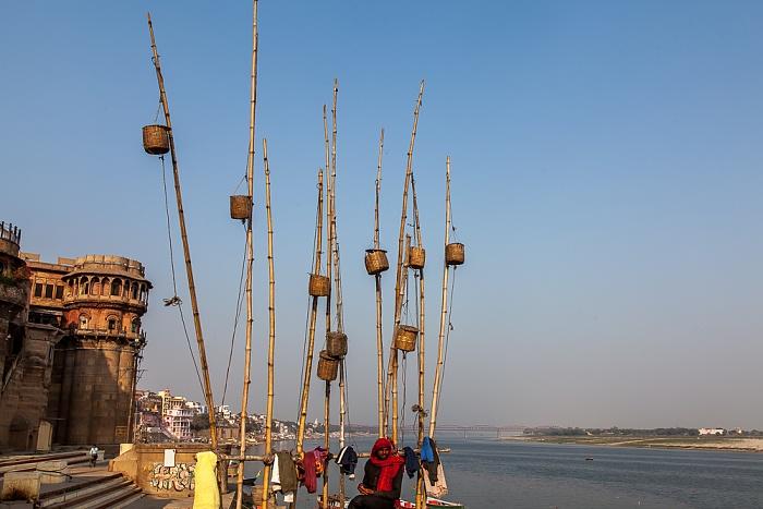 Varanasi Ghats: Bhonsale Ghat Ganges Malviya Bridge