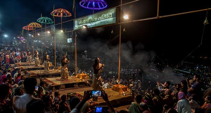 Varanasi Ghats: Dashashwamedh Ghat - Ganga aarti