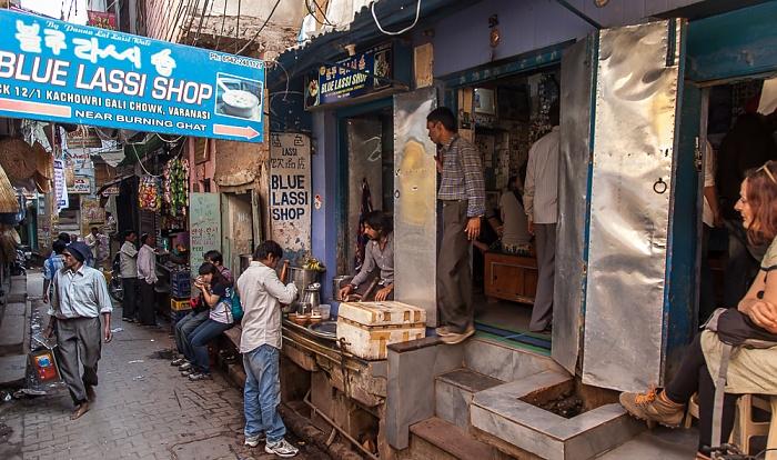 Varanasi Altstadt: Blue Lassi Shop