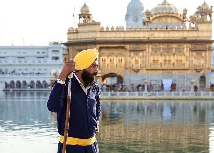 Amritsar Golden Temple Complex: Sikh-Wächter