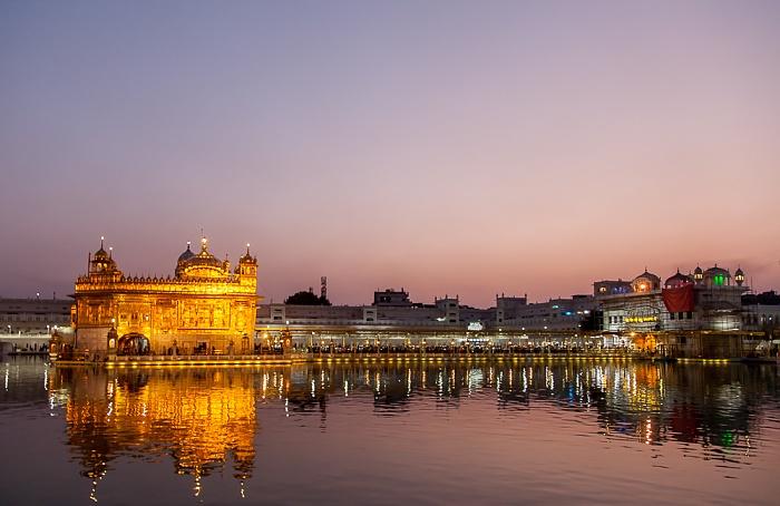 Amritsar Golden Temple Complex: Amrit Sarovar (Wasserbecken), Harmandir Sahib (Goldener Tempel), Darshani Deorhi