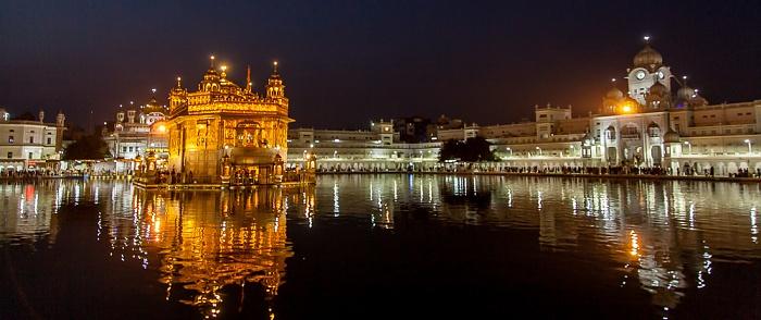 Amritsar Golden Temple Complex: Amrit Sarovar (Wasserbecken), Harmandir Sahib (Goldener Tempel), Darshani Darwaza