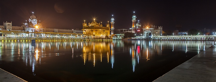 Amritsar Golden Temple Complex: Amrit Sarovar (Wasserbecken), Darshani Darwaza, Harmandir Sahib (Goldener Tempel)