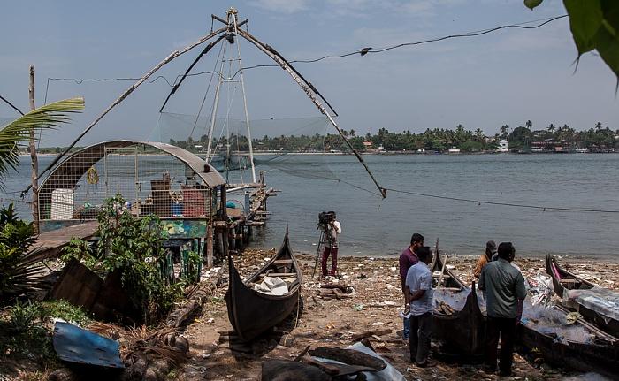 Fort Kochi: Chinesische Fischernetze, Vembanad Lake Vypin