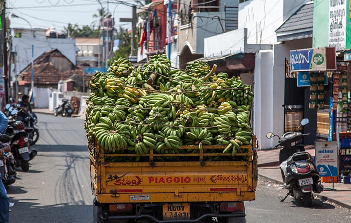 Kochi Mattancherry: Pullupalam Road - Bananentransport