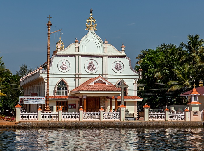 Backwaters Pamba River, St. Joseph's Church (Chennamkary)