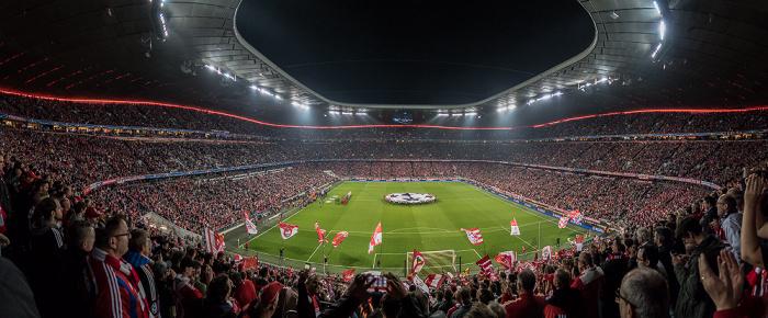 Allianz Arena (vor dem Champions League-Viertelfinalhinspiel 2016 FC Bayern München - Benfica Lissabon) München 2016