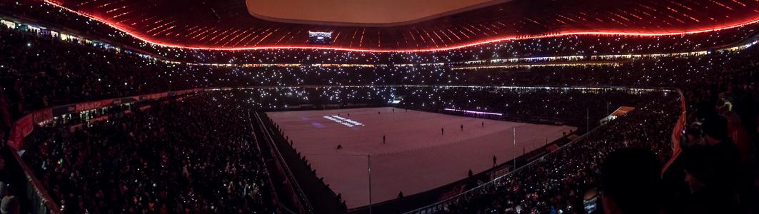 Allianz Arena (nach dem Bundesligaspiel FC Bayern München - RB Leipzig) München 2016