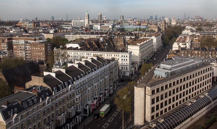 London Blick aus dem Holiday Inn Kensington Forum: South Kensington - Cromwell Road
