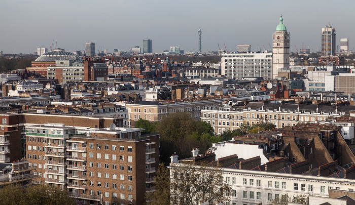 London Blick aus dem Holiday Inn Kensington Forum: South Kensington BT Tower Imperial College of Science & Museum Queen's Tower Royal Albert Hall