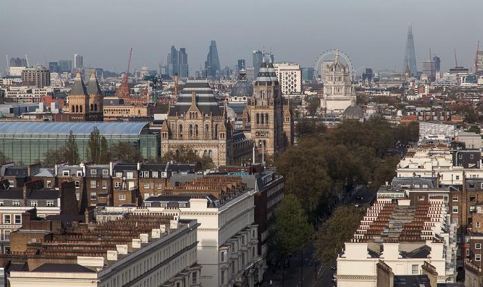 Blick aus dem Holiday Inn Kensington Forum: South Kensington - Cromwell Road London