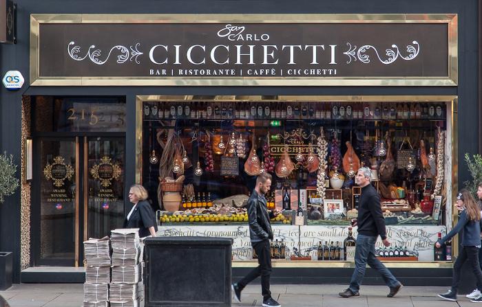 London Piccadilly: San Carlo Cicchetti St James's