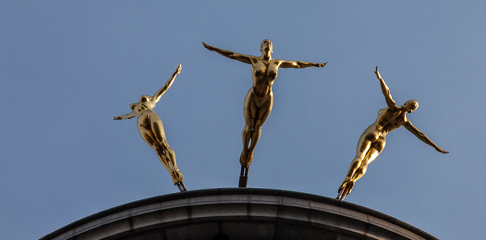 St James's: Haymarket - Criterion Building: Three Graces (Three Daughters of Helios) London