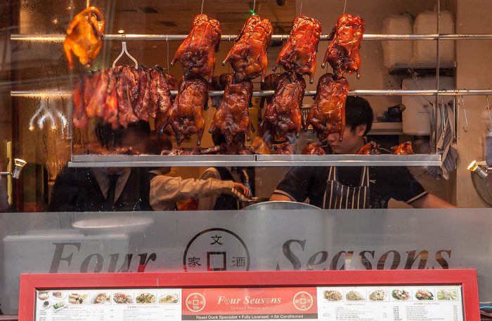 London Chinatown: Wardour Street - Gebratene Enten