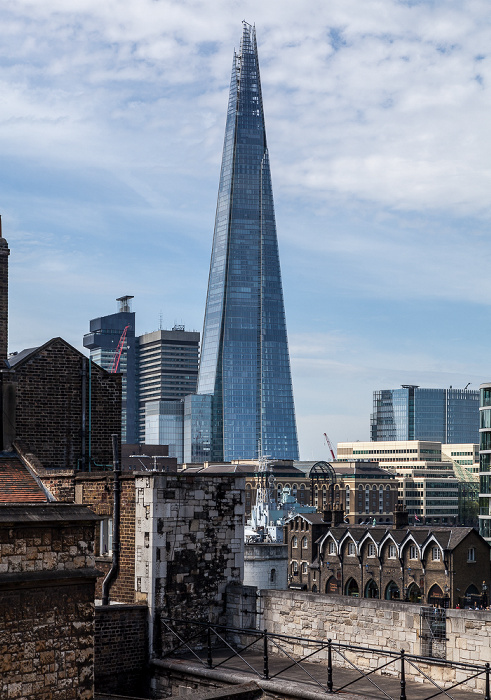 Blick vom Tower of London: The Shard