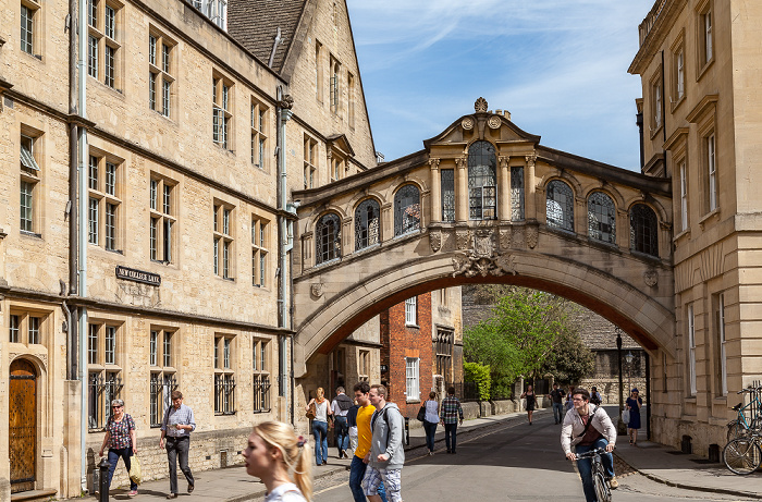 Oxford New College Lane: Bridge of Sighs (Hertford College)