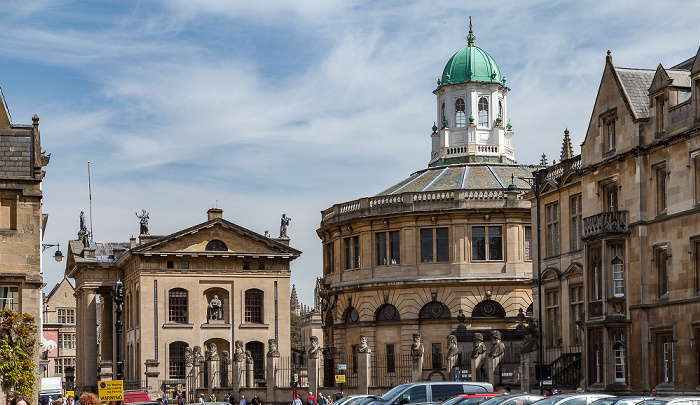 Oxford Broad Street (v.l.): Clarendon Building, Sheldonian Theatre, Exeter College