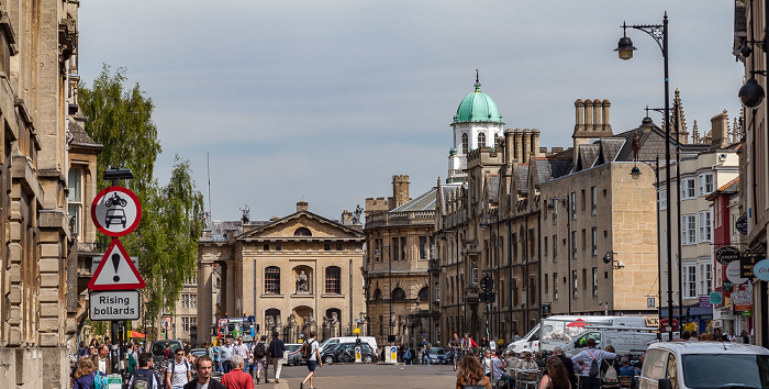 Oxford Broad Street (v.l.): Balliol College, Clarendon Building, Sheldonian Theatre, Exeter College