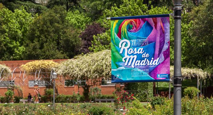 Madrid Rosaleda del parque del Oeste (Jardín de Ramón Ortíz)