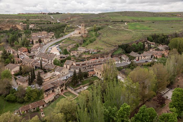 Blick vom Alcázar de Segovia: Tal des Río Eresma Segovia 2016