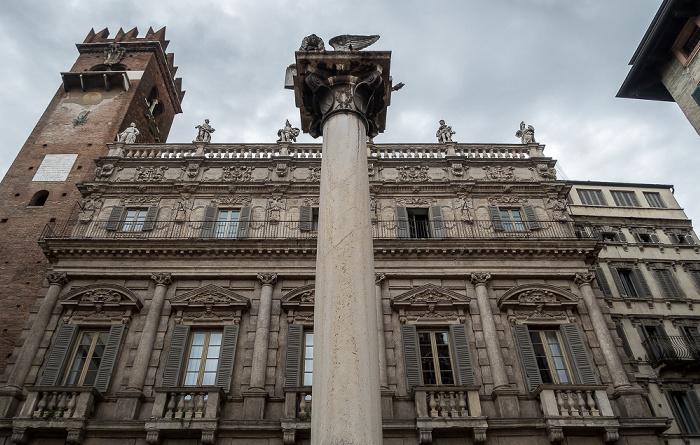 Centro Storico (Altstadt): Piazza delle Erbe - Colonna di San Marco Verona
