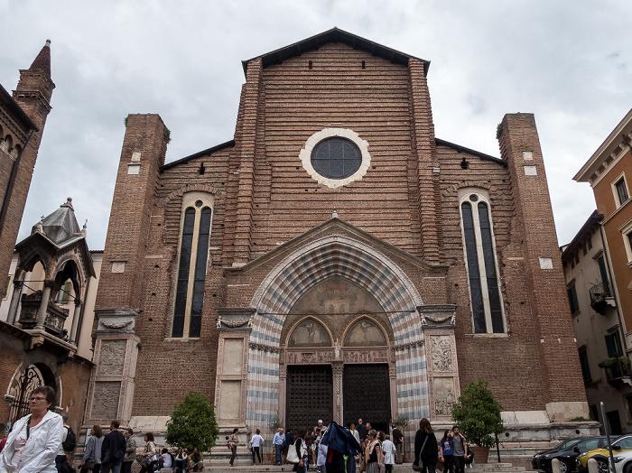 Centro Storico (Altstadt): Basilica di Santa Anastasia Verona