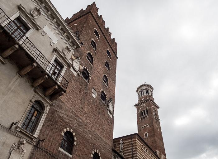 Centro Storico (Altstadt): Piazza dei Signori - Palazzo di Cansignorio, Torre dei Lamberti Verona