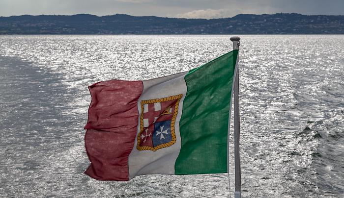 Gardasee Italienische Flagge