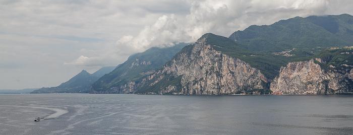 Malcesine Blick von der Skaligerburg (Castello Scaligero): Gardasee