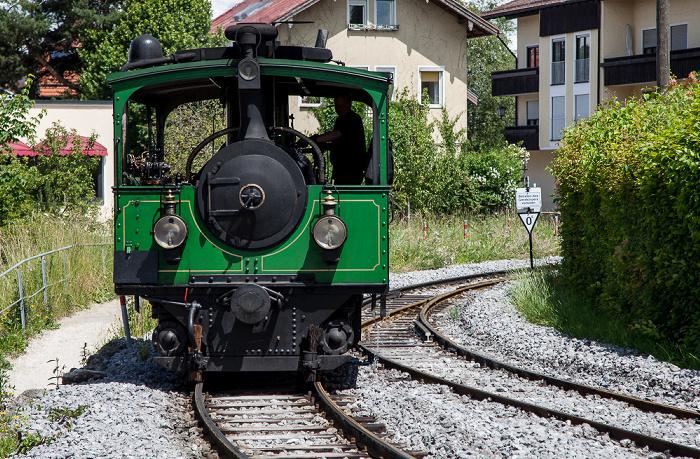 Prien am Chiemsee Bahnhof Prien: Dampflok der Chiemsee-Bahn