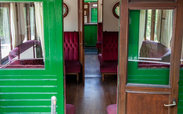 Prien am Chiemsee Bahnhof Prien: Waggon 1. Klasse der Chiemsee-Bahn