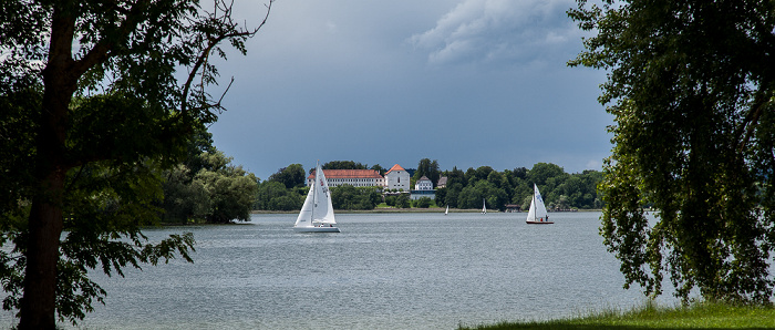 Fraueninsel Chiemsee, Herreninsel mit Kloster Herrenchiemsee (ehem. Stift der Augustiner-Chorherren)