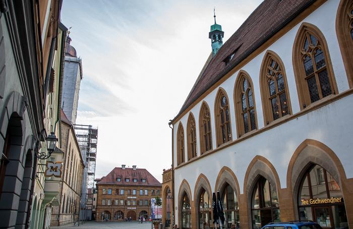 Amberg Altstadt: Rathausstraße, Marktplatz und ehem. Ratstrinkstube Basilika St. Martin