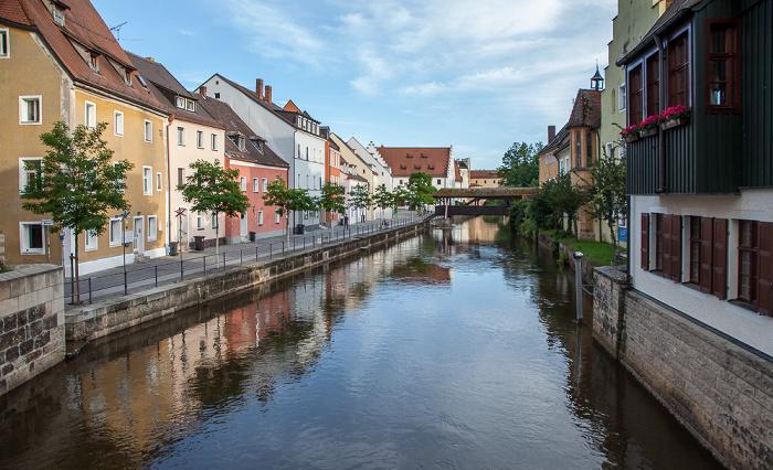 Amberg Altstadt: Blick vom Martinssteg - Vils Schiffbrücke