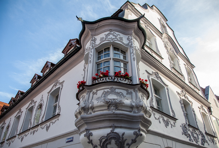 Amberg Altstadt: Roßmarkt / Georgenstraße - Fenzl-Haus