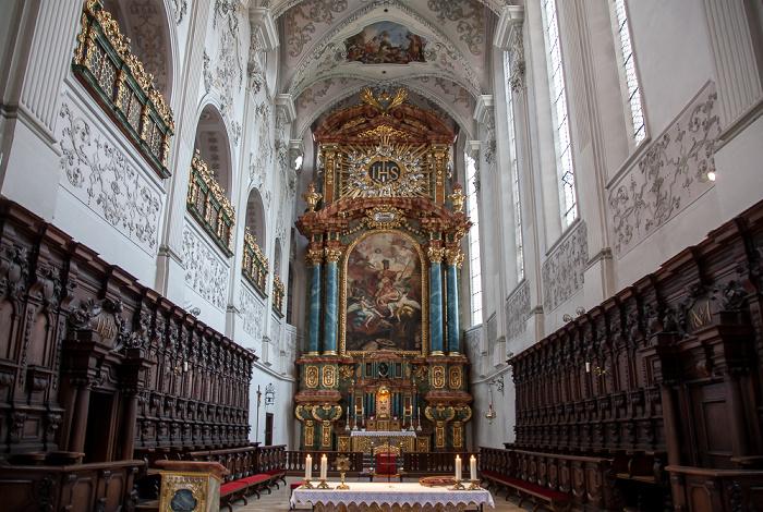 Amberg St. Georg: Altaraufbau und Altarbild des Heiligen Georg