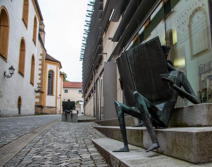 Altstadt: Provinzialbibliothek Amberg (Staatliche Bibliothek Amberg) St. Georg