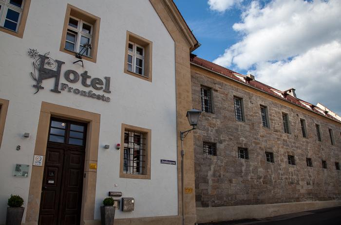 Amberg Altstadt: Fronfestgasse - Hotel Fronfeste