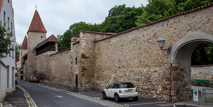 Amberg Altstadt: Jesuitenfahrt - Stadtmauer