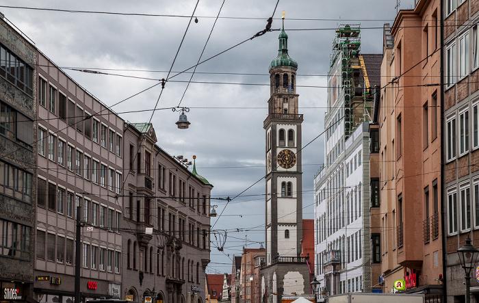 Maximilianstraße: St. Peter am Perlach und Augsburger Rathaus