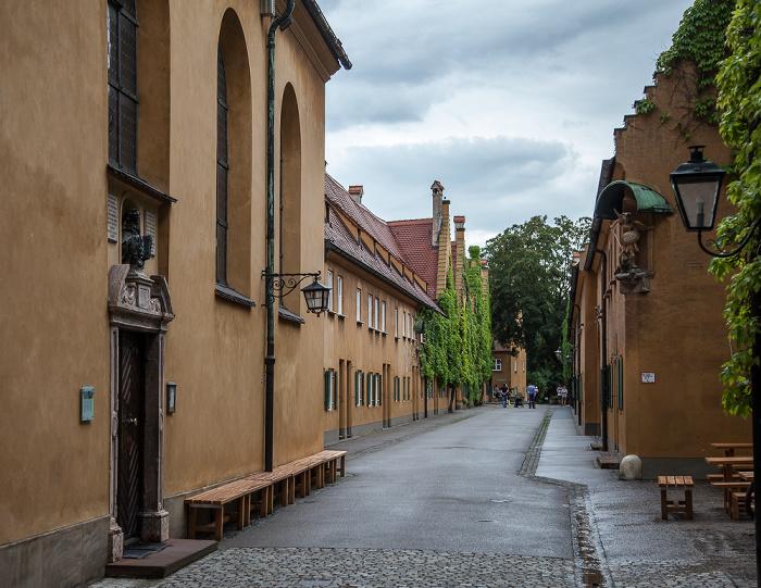 Augsburg Fuggerei: Herrengasse Markuskirche